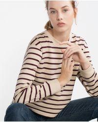 Zara | Purple Round Neck Sweatshirt | Lyst
