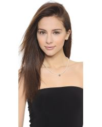 Joomi Lim | Natural Small Imitation Pearl Necklace - Rhodium/cream | Lyst