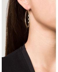 Hoorsenbuhs | Yellow Diamond Bridal Hoop Earrings | Lyst