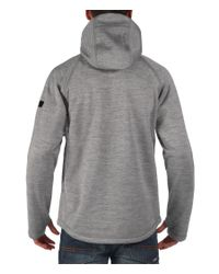 Bench | Gray Bitumen B Bonded Zip-thru Hoodie for Men | Lyst