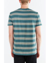BDG | Green Rowen Stripe Standard-fit Tee for Men | Lyst