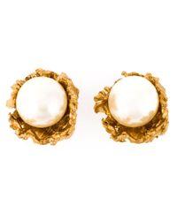 Alighieri | White Pearl Stud Earrings | Lyst