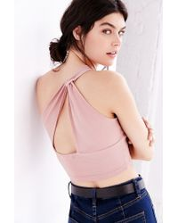 Truly Madly Deeply - Pink One Shoulder Tank Top - Lyst