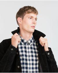 Zara | Blue Check Organic Cotton Shirt for Men | Lyst