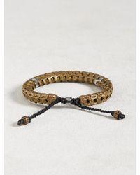 John Varvatos Multicolor Brass Snake Bone Vertebrae Bracelet for men