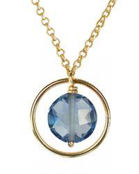 Perle De Lune Chez Carré Y. | Metallic Pastille Ellipse Pendant | Lyst