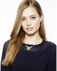 Whistles | Metallic Mini Circle Collar Necklace | Lyst