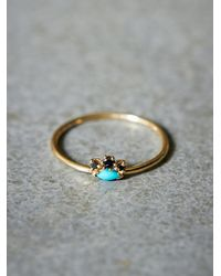 Katie Diamond - Blue Madeline Ring - Lyst