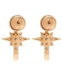 Kismet by Milka - Pink White Diamond K Star Earrings - Lyst