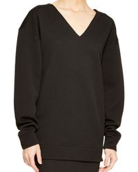 DKNY - Black Textured Jersey Pullover - Lyst