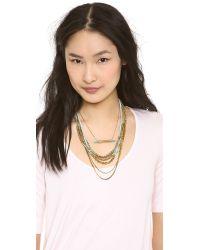 Serefina Beaded Layer Set Necklace Bronzeblue