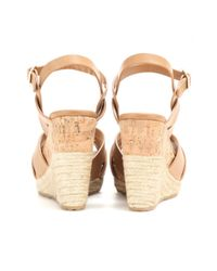 Jimmy Choo | Brown Pallet Leather Wedge Sandals | Lyst