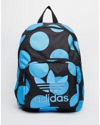 Adidas Black Originals X Pharrell Williams Backpack In Blue Spot