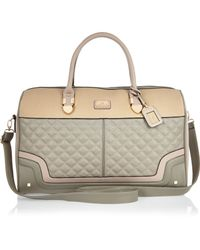 River Island Gray Grey Quilted Weekend Bag