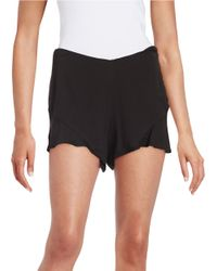 Free People - Black Flutter Shorts - Lyst