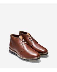 Cole Haan Brown Zerøgrand Stitch Out Chukka for men