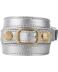 Balenciaga - Metallic Arena Giant Double Tour Wrap Bracelet - Lyst