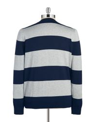 Lacoste | Blue V-neck Sweater for Men | Lyst