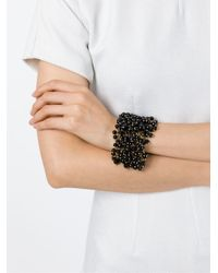 Rosantica | Metallic 'osiris' Onyx Bead Cuff | Lyst