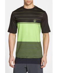 Volcom - Green 'Sub Stripe' Short Sleeve Rashguard for Men - Lyst