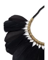 Forever 21 | Black Feather Statement Necklace | Lyst