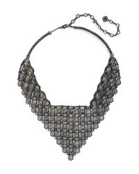 Kendra Scott | Metallic 'giada' Collar Necklace - Gunmetal/ Mirror Rock Crystal | Lyst