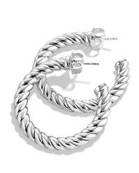 David Yurman Metallic Cable Classics Hoop Earrings
