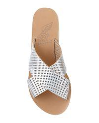 Ancient Greek Sandals - Metallic Thais In Silver - Lyst