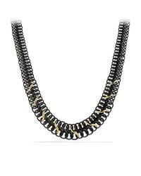 David Yurman | Black And Gold Chain Necklace | Lyst