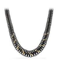David Yurman - Black And Gold Chain Necklace - Lyst