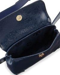 Tory Burch Blue Robinson Patent Waistpack