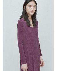 Mango - Purple Modal Dress - Lyst