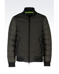 Armani Jeans - Green Down Coat for Men - Lyst