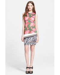 Clover Canyon | Pink 'Scribble Scarf' Print Sheath Dress | Lyst