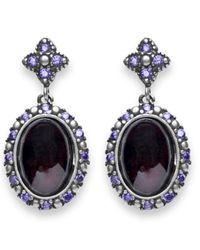 Platadepalo | Multicolor Classic Silver Garnet And Zircon Earrings | Lyst