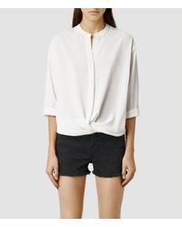 AllSaints - White Waikata Ly Shirt - Lyst
