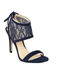 Ivanka Trump | Blue Daza Lace Ankle Cuff Sandals | Lyst