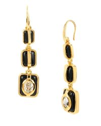 Diane von Furstenberg | Metallic Holiday Color Triple Drop Earrings | Lyst
