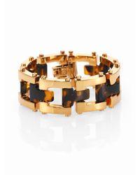 Tory Burch - Metallic T Resin Chain-Link Bracelet - Lyst