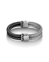 John Hardy | Black Double Row Bracelet for Men | Lyst