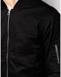 Jack & Jones | Black Bomber Jacket for Men | Lyst