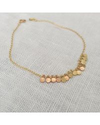 Sia Taylor | Metallic 18k Pink + Yellow Gold Tiny Dots Bracelet | Lyst