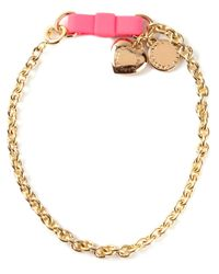 Marc By Marc Jacobs | Metallic 'Bow Tie With Puffy Heart' Bracelet | Lyst
