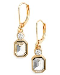 Anne Klein Metallic Lever Back Earrings