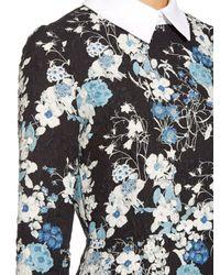 Erdem Blue Truman Floral-print Matelassé Dress