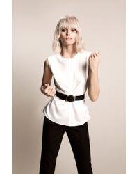 BOSS Black Leather Belt: 'roxanne'