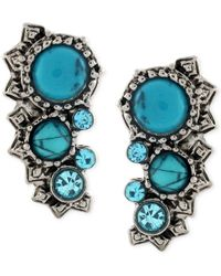 BCBGeneration | Metallic Silver-tone Turquoise-colored Stone Ear Crawler | Lyst