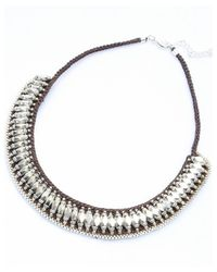 Nakamol | Black Monumental Necklace-silver/brown | Lyst