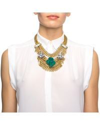 Lulu Frost - Blue Rita Mesh Necklace - Teal - Lyst