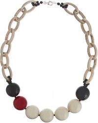 Armani | Red Bauble Bead Necklace | Lyst
